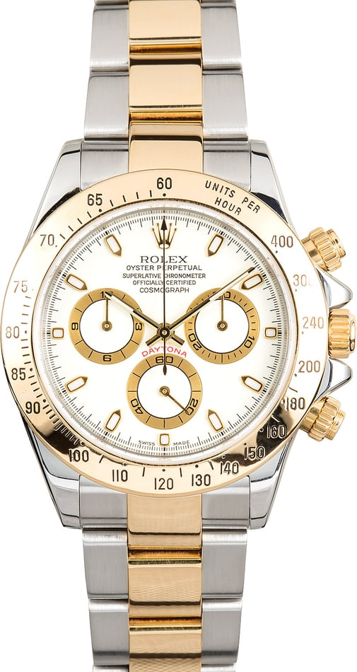 Rolex White Daytona 116523 Two-Tone