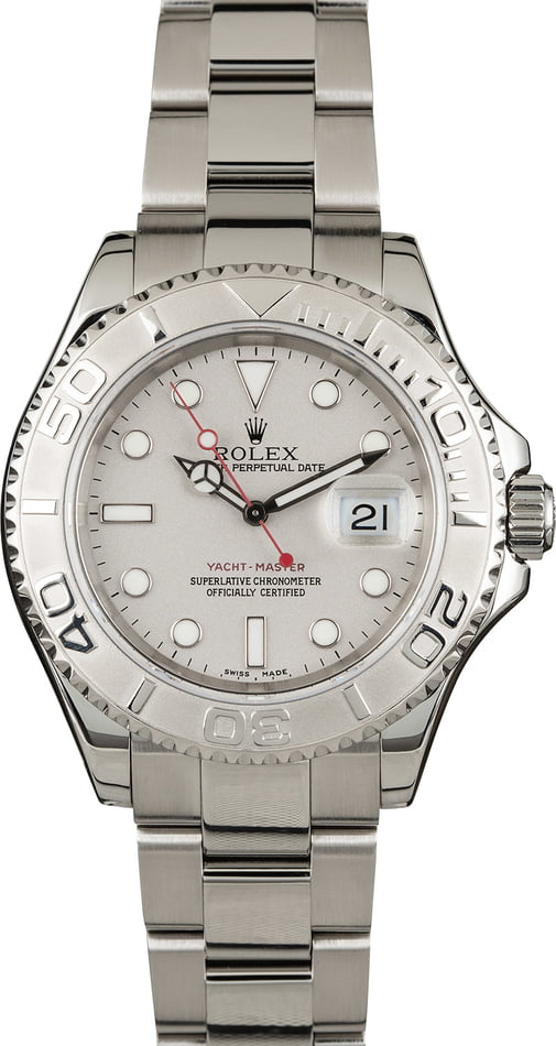 PreOwned Rolex Yacht-Master 16622 Stainless Steel and Platinum