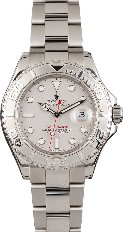 Used Rolex Yacht-Master 16622 Platinum Bezel and Dial