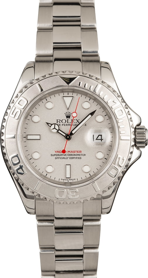 Used Rolex Yacht-Master 16622 Platinum Bezel Watch
