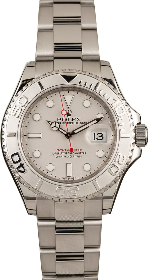 Used Rolex Yacht-Master 16622 Platinum Timing Bezel
