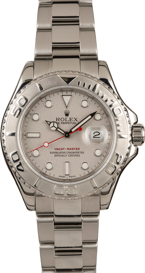 Pre-Owned 40MM Rolex Yacht-Master 16622 Platinum Timing Bezel