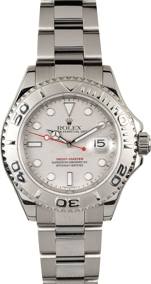Rolex Yacht-Master 16622 Platinum Bezel 100% Authentic
