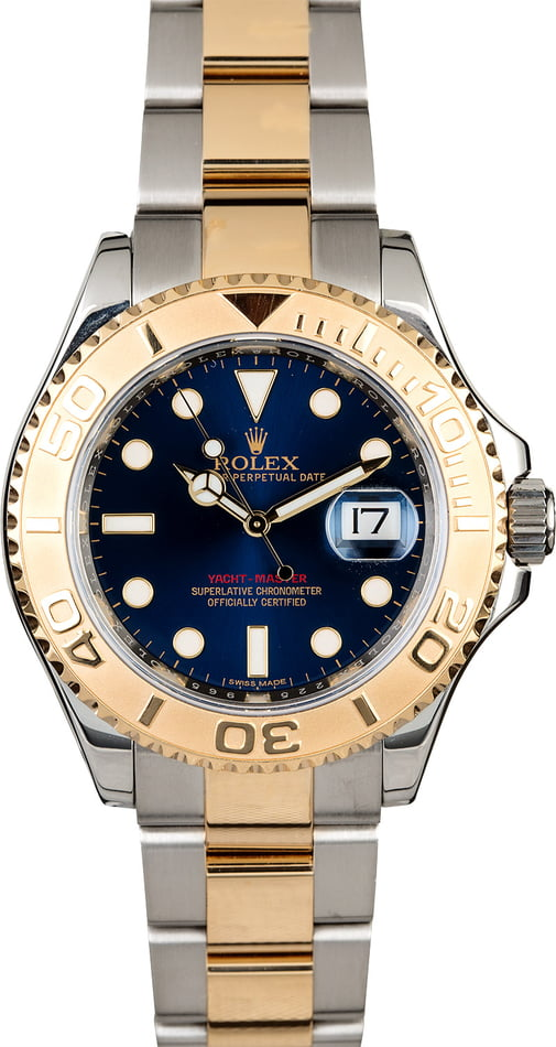 Men's Rolex Yacht-Master 16623 Blue Dial Two Tone Oyster