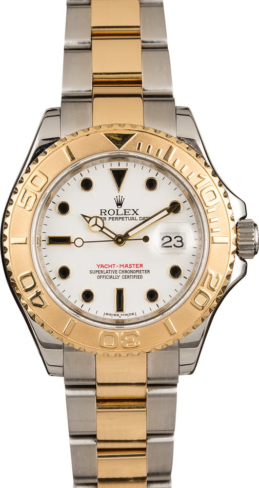Used Rolex Yacht-Master 16623 Two-Tone Oyster with White Dial