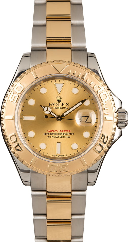 Pre-Owned Rolex Yacht-Master 16623 Champagne Dial