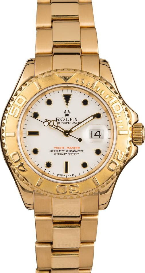 Pre Owned Rolex Yachtmaster 16628 Yellow Gold T