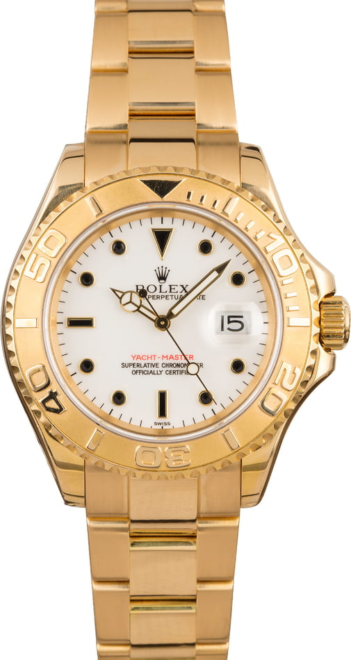 Rolex Yachtmaster Yellow Gold 16628 White Dial