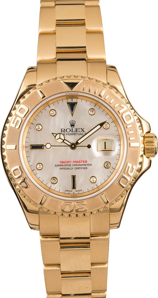 Rolex Yacht-Master 16628 Mother of Pearl Serti Dial