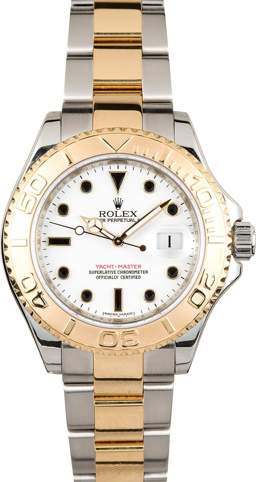 Rolex Yacht-Master White 16623 Steel and Gold