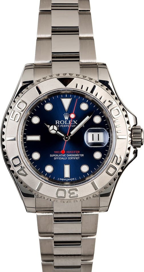 Certified Men's Rolex Yacht-Master 116622 Blue Dial