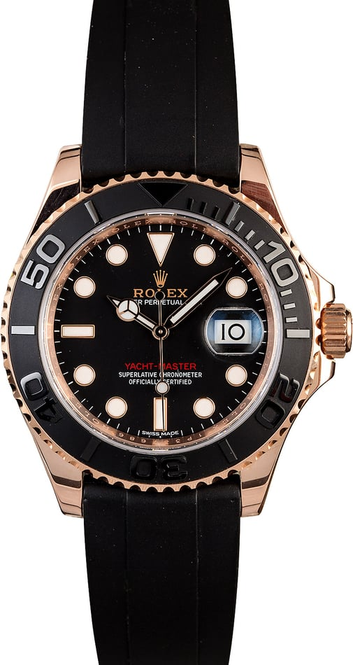 Used Rolex Everose Yacht-Master 116655 t