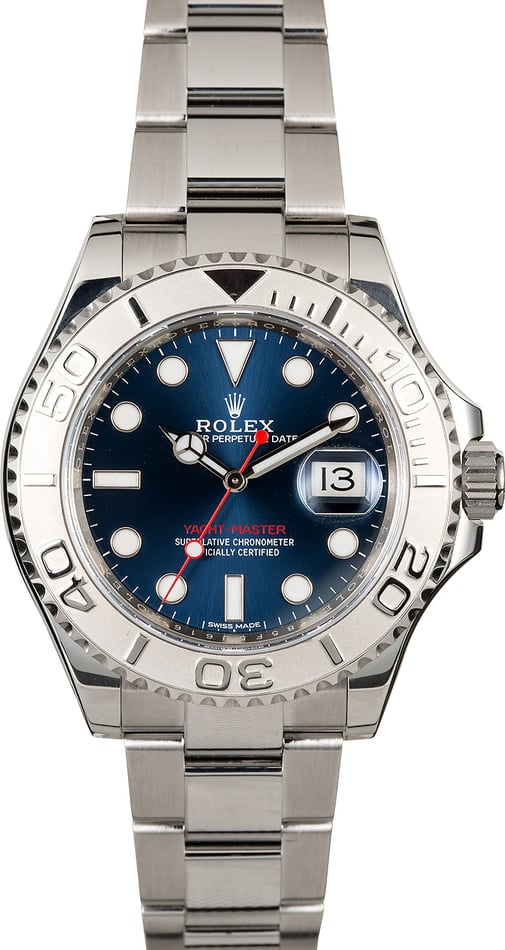 Certified Rolex Yacht-Master 116622 Blue Dial