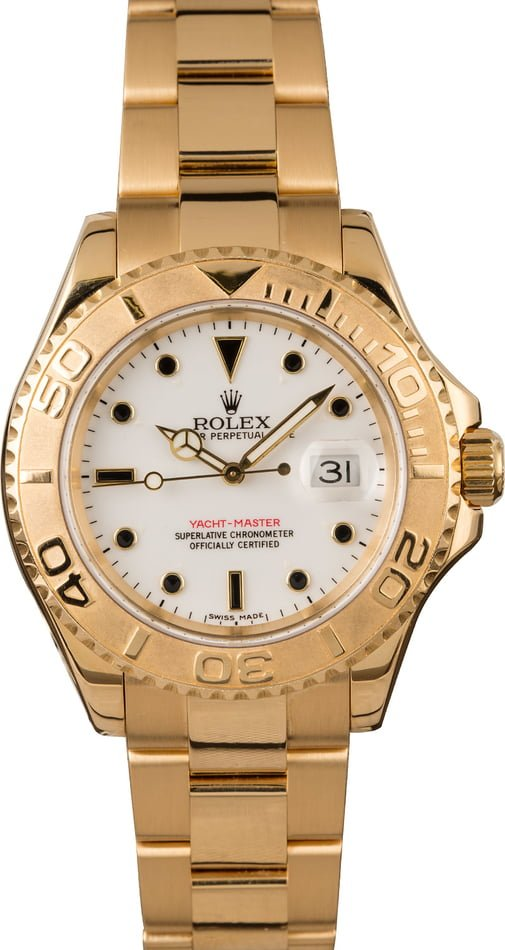 Used Rolex Yachtmaster 16628 White Dial 40MM