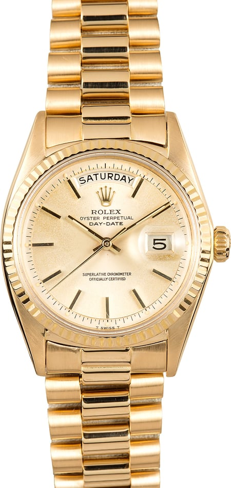 Rolex Yellow Gold Vintage President 1803 Day-Date