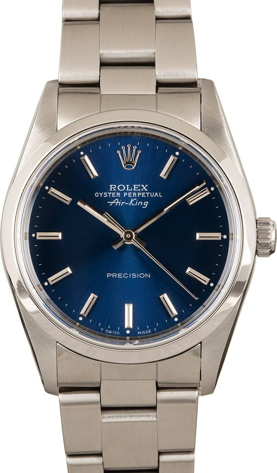 Rolex Air-King 14000 Blue 100% Authentic