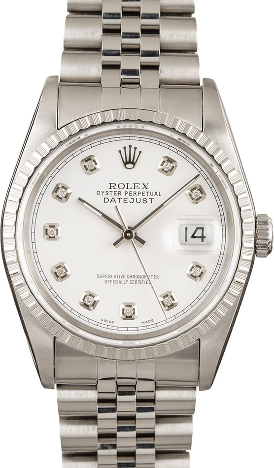 Rolex Stainless Datejust 16220 White