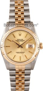 Pre Owned Men's Rolex Stainless and Gold DateJust 16233