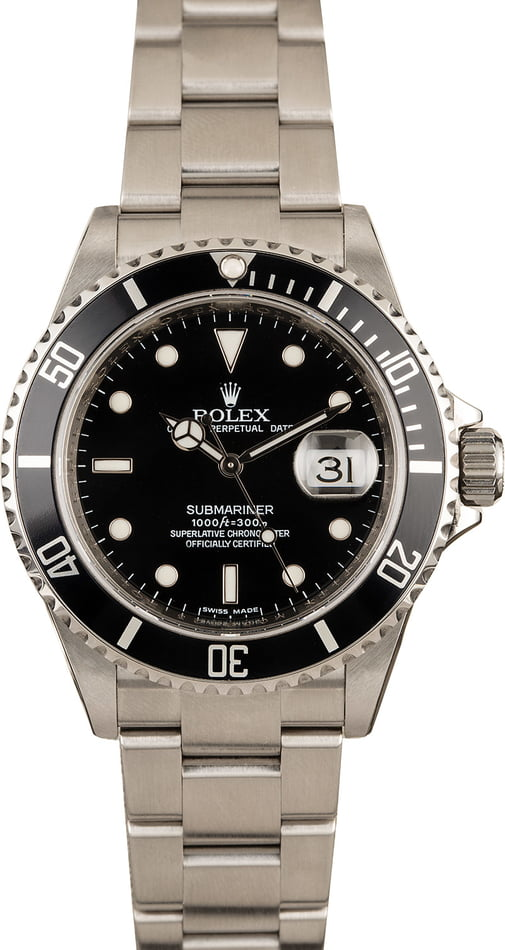 Rolex Submariner 16610 Serial Engraved Dive Watch