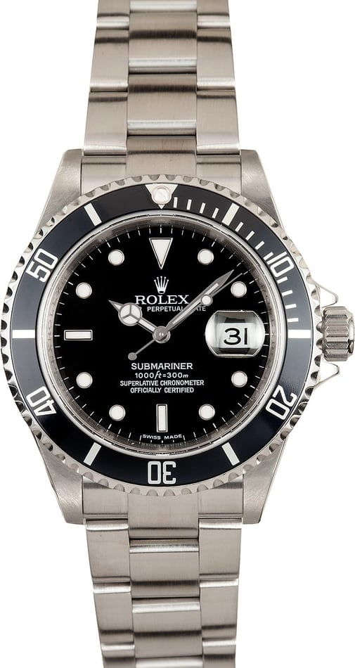 Rolex Submariner 16610T Engraved Serial