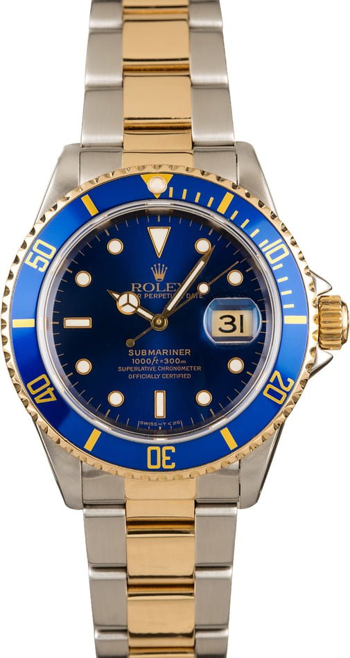 Rolex Submariner 16613 Blue Dial 100% Authentic