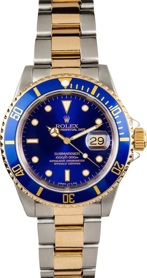 Steel and Gold Rolex Submariner 16613