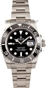 Men's Pre-Owned Rolex Submariner Model 116610 Ceramic Stainless