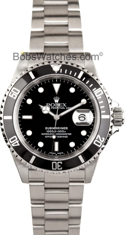 Mens Used Rolex Submariner 16610, Pre Owned at Bob's Watches