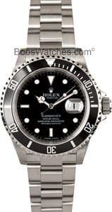 Pre-Owned Rolex Submariner 16610 no holes case at Bob's Watches