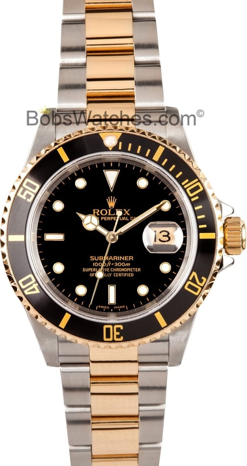 Rolex Men's Submariner Steel and 18K 16613