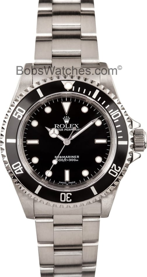 Pre Owned Mens Used Rolex Submariner 14060M No Date