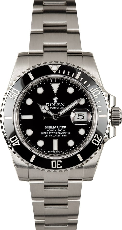 Submariner Rolex 116610 Black Ceramic