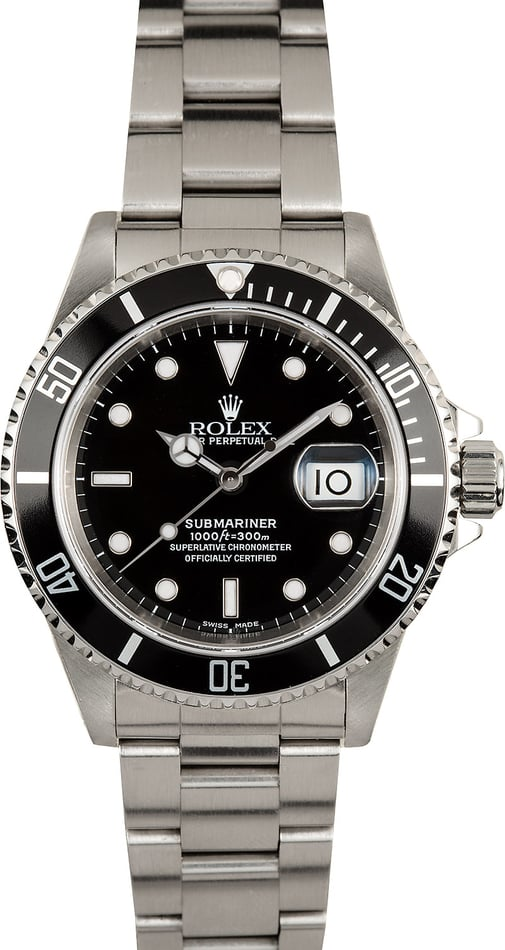Submariner Rolex 16610 100% Authentic Stainless Steel