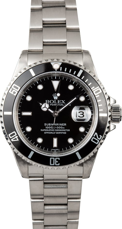 Submariner Rolex 16610 Black Dive Watch