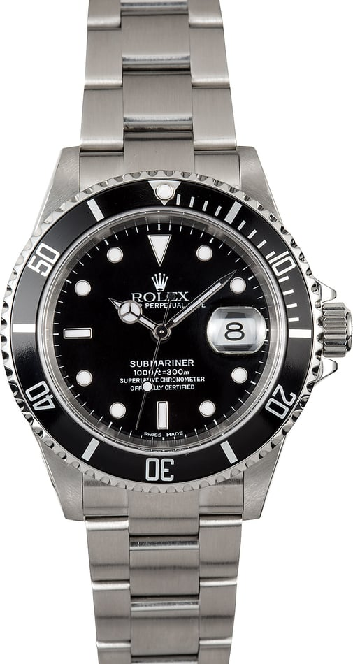 Submariner Rolex 16610 No Holes Case