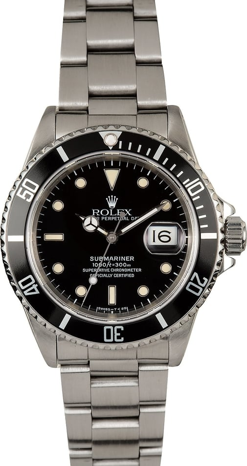 Submariner Rolex 16610 Stainless 100% Authentic
