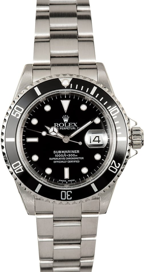 Submariner Rolex 16610 Steel 100% Authentic