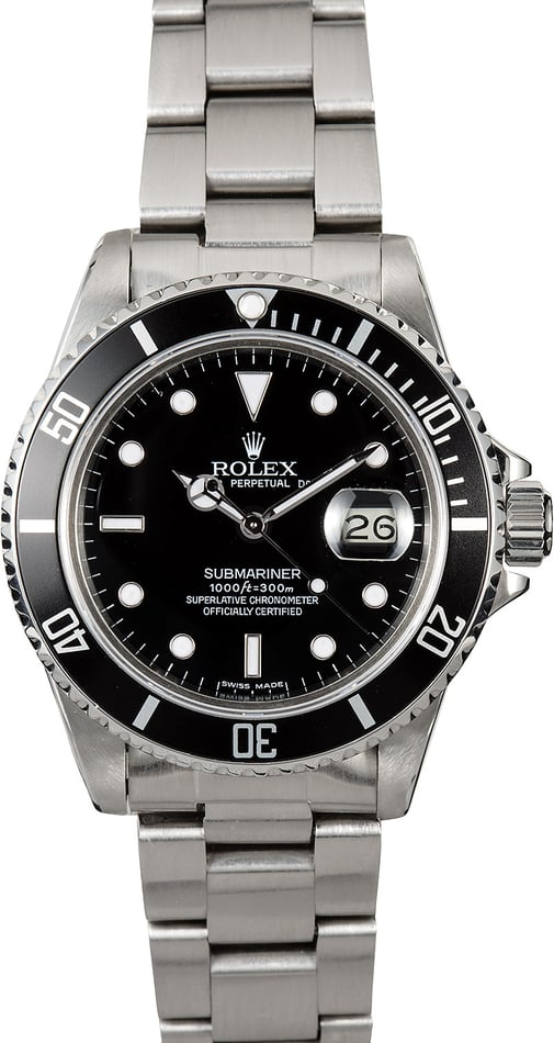Submariner Rolex 16800 Steel