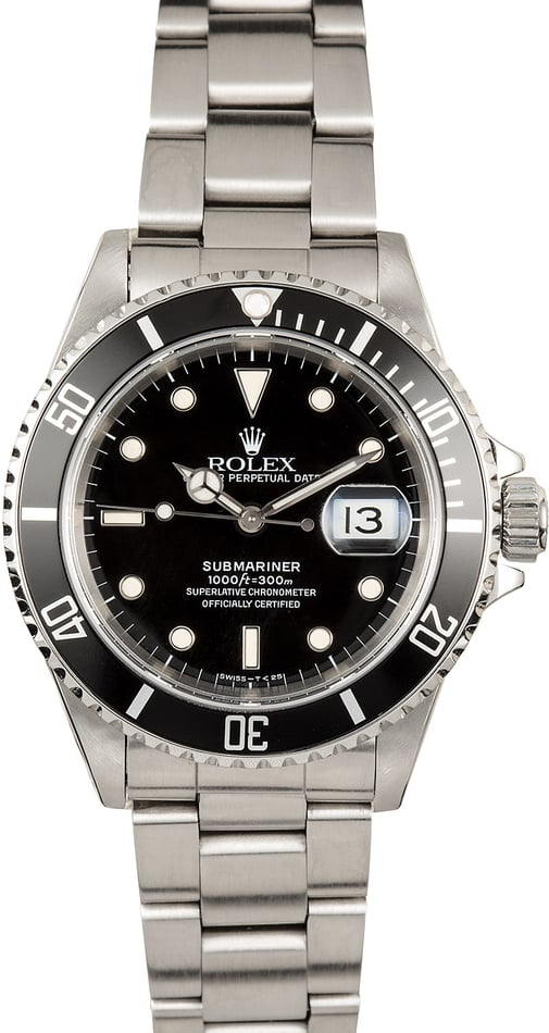 Submariner Rolex Black 16610 Pre-Owned