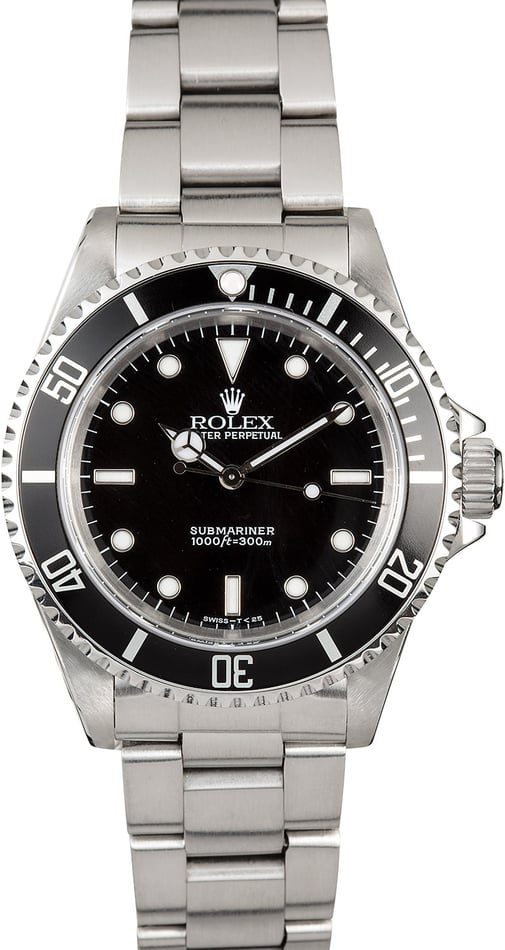 Submariner Rolex No Date 14060 Black