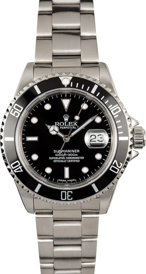 Submariner Rolex Stainless Steel 16610 100% Authentic