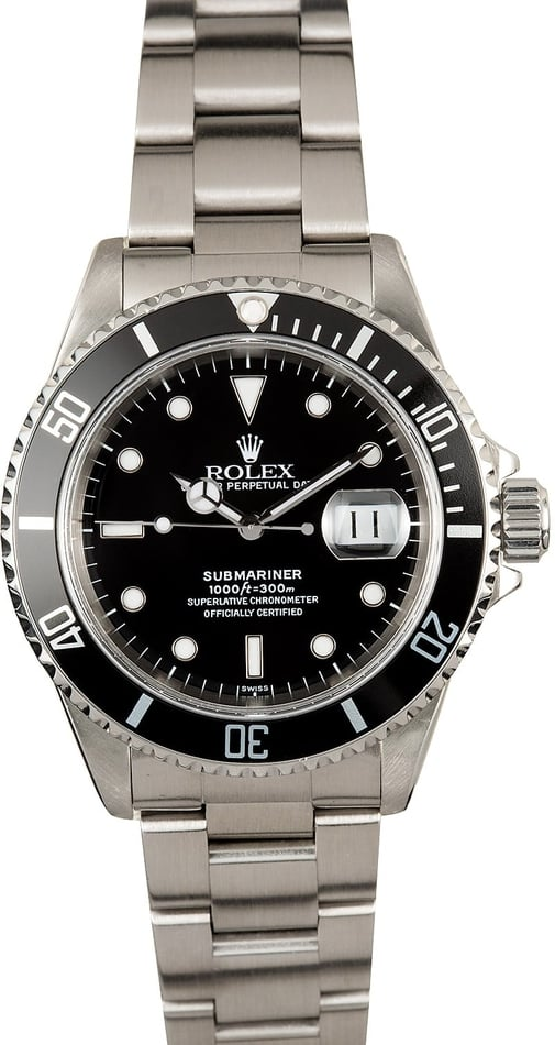 Submariner Rolex Watch 16610 Steel
