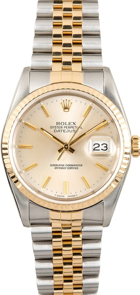 Two-Tone Rolex Datejust 16233 Steel & Gold