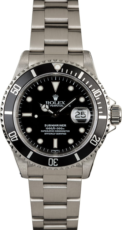 Used Rolex Submariner 16610 Stainless Steel