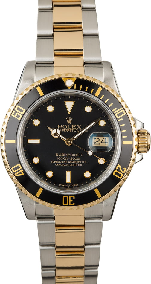 Used Rolex Submariner 16803 Black Dial