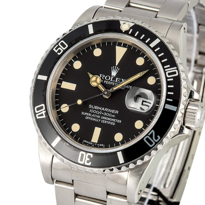 Vintage Rolex Submariner 16800 Black
