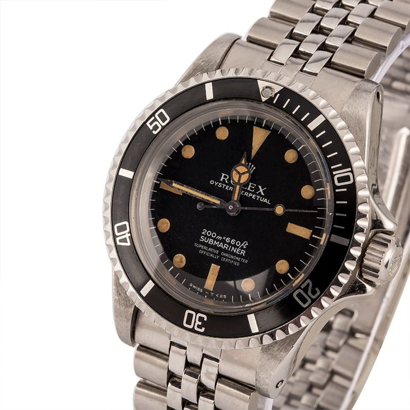 Rolex Submariner 5512 Meters First 4 Line Dial Rolex Papers Circa 1968