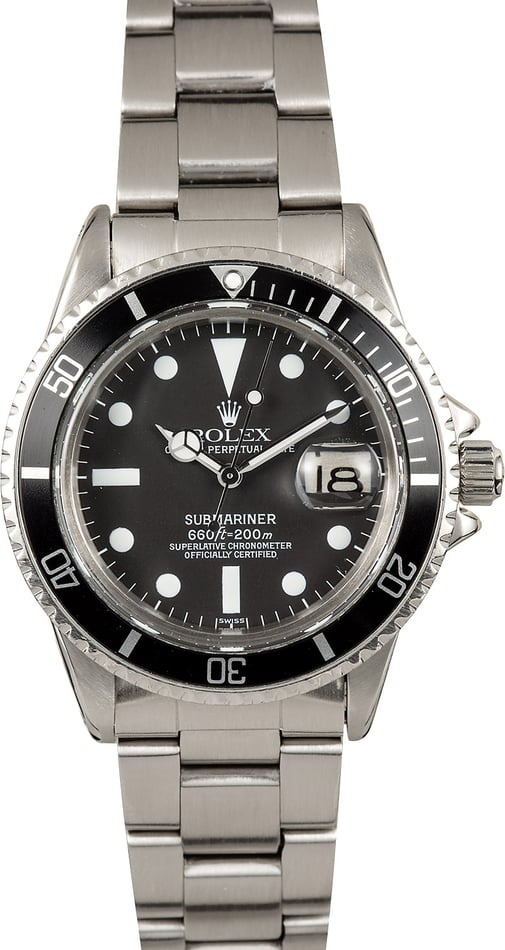 1984 Vintage Rolex Submariner Model 1680 with Matte Dial