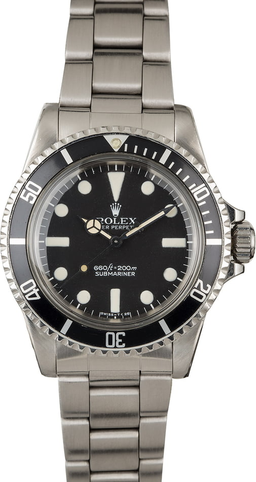 Vintage 1978 Rolex Submariner 5513 Mark I Maxi Dial