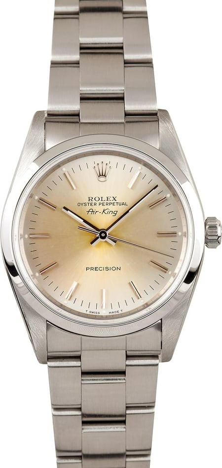 Stainless Steel Rolex Air-King 14000